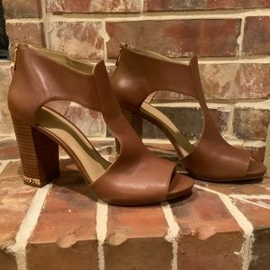 Michael Kors Brown Luggage Heels
